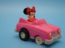 New listing Disney Minnie Mouse Pull Back Pink Convertible Plastic Car McDonald's Meal Toy A