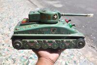 Vintage Battery TAIYO Trademark U.S Army M-4 Litho Tank Tin Toy , Japan