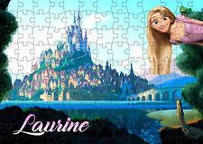puzzle 252 pièces chateau raiponce 38 x 26cm personnalisable prénom réf 83