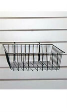Wire Grid Basket in Bl