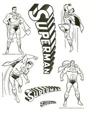 Superman Batman Shazam DC STOCK IMAGE PROOFS 1971 FLASH GREEN LANTERN ARROW LOGO