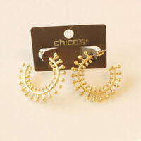 New Chicos 35mm Floral C Stud Earrings Gift Fashion Women Party Holiday Jewelry