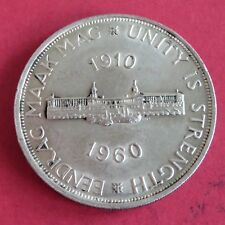 SOUTH AFRICA 1960 50th ANNIVERSARY OF UNION SILVER 5 SHILLING CROWN