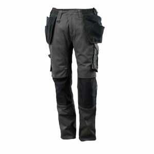 MASCOT Unique Trousers Cargo Combat Work Pants- Anth/Black Work Pants Workwear