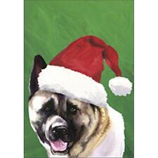 Akita Christmas Flag