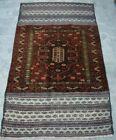 F1539 Vintage Handmade Afghan Tribal Baluchi Kelim Stunning Nomad Rug 3x5 Feet