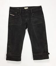 Diesel waku shorts pant corto bermuda jeans nero W31 tg 44 45 donna usati T1730