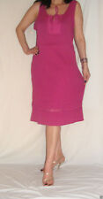 Women Pink SunDress Holiday Smock Wrinkled Cotton Pull On South Size 20
