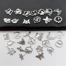 Stainless Steel Mixed Butterfly Pendant Charms Jewelry DIY Accessories 20pcs/lot