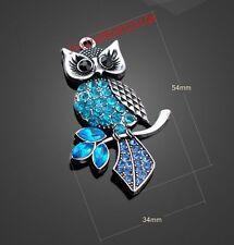 PJ999 1pc Retro Tibetan Silver owl Jewelry Accessories wholesale