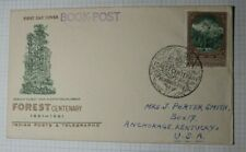 India FDC 1961 Cachet Cover Forest Centenary Book Post Sc# 347