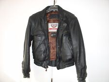 "Leather Motorcycle Jacket First Gear Hein Gericke Small Black almost ""not used"""