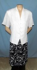 Classic & Timeless Sag Harbor A-line Black Print Skirt Size 1X Career or Casual