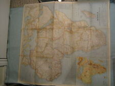 VINTAGE LARGE AFRICA WALL MAP National Geographic February 1943