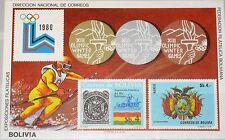 Bolivia Bolivia 1980 blocco 102 inverno Olympics Lake Placid Medals skiing MNH