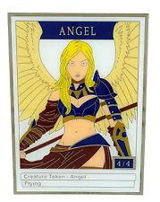 MTG MAGIC THE GATHERING 4/4 White Angel Creature Token MTG Metal Trading Card