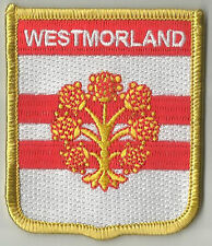 WESTMORLAND ENGLAND FLAG EMBROIDERED PATCH BADGE