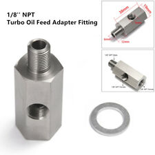Oil Pressure Sensor Tee to 1/8'' NPT Adapter Turbo Supply Feed Line Gauge Superb