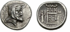 Rare KINGDOM OF PERSIS.Vadfradad I 3-early 2 cent.AR tetradrachm 29mm,16.37gm