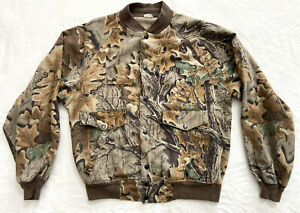 "Men's Large ADVANTAGE CAMO Snap Up Jacket Hunting Outdoor USA 48"" Chest CLEAN"