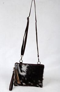 Real Cowhide Cross body Purse Handbag & Hand Clutch  Cow Hide Leather  SA-6621