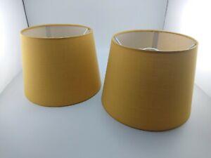 Pair Mustard Yellow Lampshade Tapered Drum Shade Home Decor Ceiling Light Lamp