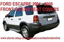 FRONT+REAR BLACK VELOUR SEAT COVER FIT FORD ESCAPE,MAZDA TRIBUTE,2003-2005