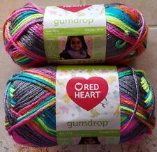 Lot of 2 Red Heart Gumdrop Rock Candy Yarn NEW