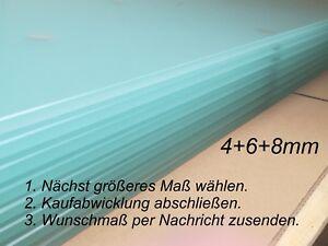 Glasscheibe Zuschnitt auf Wunschmaß Satiniertes Glas Glasplatte Glasboden