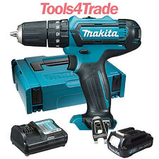 Makita HP331DZ 10.8V CXT Combi Drill + 1 x 2.0Ah BL1020B Battery Charger & Case
