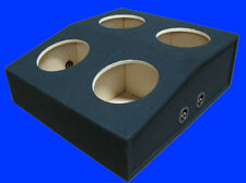 "4 FOUR HOLE 12"" HATCHBACK BLACK CHAMBERED SUBWOOFER SUB ENCLOSURE BOX"