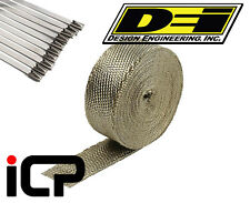 "DEI Titanium Heat Exhaust Wrap & Stainless Steel Tie Kit 1""x15FT Roll"