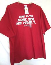 T-Shirt, COME TO THE Dork Side We Have PI Mens 3XL RED From THE TECH San Jose CA