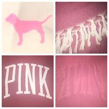 Victorias Secret! Pink BRAND Women's Stylish & Rare GRAPHIC Blanket Throw Cotton