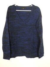 NEW Sanctuary Womens Sweater Size Small Oversized Blue V Neck Acrylic Wool