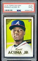 2018 Topps Gallery Braves RONALD ACUNA JR Rookie Card PSA 9 MINT Low Pop