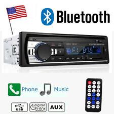 Single 1 DIN Car Stereo Radio MP3 Player Bluetooth Audio In-Dash SD USB
