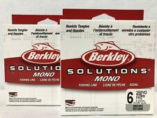 Qty:2 Berkley Solutions Mono Spin Fishing Line 6lb 250Yd Green Mist Made In Usa
