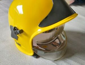 Firefighter Helmet MSA Gallet Fire Rescue Brigade Eye Sheilds Yellow Type III