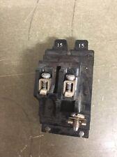 Pushmatic P1515 Twin or Duplex or Tandem BREAKER 15 Amp  - No Tab