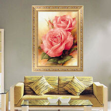 DIY 5D Diamond Embroidery Painting Peony Flower Cross Stitch Home Decor Craft