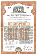 1960 $1,000 bond certificate issued to Goldman Sachs