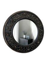 "11.5 "" Round Port Hole Mirror Framed. Tuscan Decor Brown"