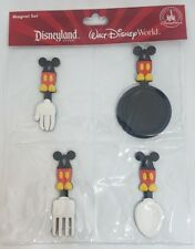 Disney Parks Mickey Mouse Kitchen Utensils Magnet Set Fork Spoon Spatula - NEW