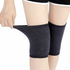 Women Knees Sleeve Wool Knitted Winter Coldproof Light Weight Warm Solid Kneecap