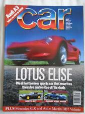 Car Aug 1996 Lotus Elise vs Ginetta G27 vs Renault Sport Spider