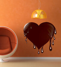 ced237 Full Color Wall decal Sticker heart love chocolate living room bedroom