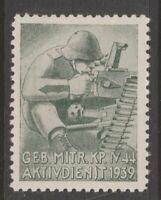 Switzerland Swiss Army Military Local Post Stamp 4-12 Mint hinge Gum nice