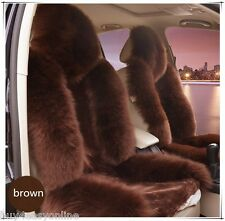 1pc Brown Real Fur Sheepskin Car Seat Covers One Size Fit most (Universal Fit)