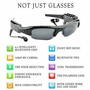 1080P HD Smart Sunglasses Sports DV Bluetooth Music Photos Polarized Glasses